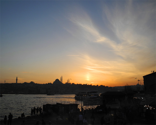 Sunset am 14.11.2010 in Istanbul